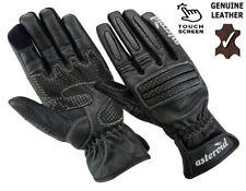 Touchscreen Waterproof Winter Thermal Leather Bikers Motorbike Motorcycle Gloves