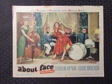 1952 ABOUT FACE 14x11 Lobby Card GD+ 2.5 Gordon MacRae, Eddie Bracken