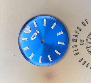 Sky Blue Turtle Diver's Watch Christian Jewish Fish Dial Vostok 2416b movement