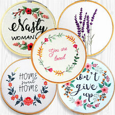 DIY Embroidery Beginners Kits Stamped Folk Pattern Needlework at Home