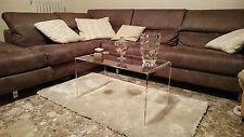 Tavolino comodino da salotto in plexiglass, H35xL80xP40 Spessore mm 10