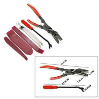 6 x Car Fastener Clips Removal Pliers Door Handle Panel Cover Radio Pry Tool Kit