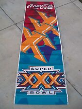 Coca Cola NFL Super Bowl XXX Official Banner Dallas Cowboys/ Pittsburgh Steelers
