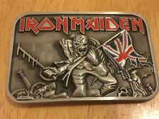 IRON MAIDEN Rock Music Band BELT BUCKLE New Metal Eddie & Union Jack