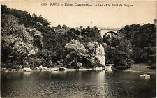 CPA PARIS 19e Buttes -Chaumont - le Lac et le Pont de Briques (302240)