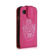 Housse coque étui pour Samsung Galaxy S i9000 motif tête de mort couleur rose fu