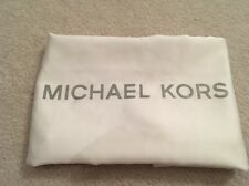 Michael Kors White Fabric Drawstring Dust Bag Sleeper Cover - NWOT