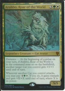 (CATS) Arahbo, Roar of the  World: Custom Magic MTG EDH Commander Deck 100 Cards
