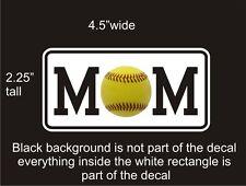 Softball Mom car vinyl decal great stocking stuffer bumper sticker NEW
