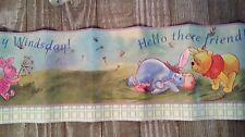 Disney Pooh Eeyore Piglet Nursery Border Peel & Stick Wall Border Roll New
