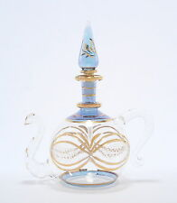 Egyptian Perfume Bottles - Premium Blown Glass Teapot - Blue  4-1124-26