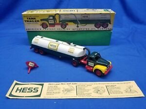 Hess 1964 Marx 1 Tank Trailer Truck W/ funnel & box The First Hess Truck LIGHTS