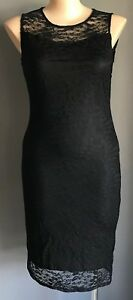 CLUB L Black Floral Lace Sleeveless Bodycon Dress Plus Sizes Plus Size 20 - 24