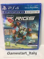 RIGS VR SONY PS4 - NUOVO SIGILLATO NEW SEALED PAL GIOCO ITA RICHIESTO VISORE VR