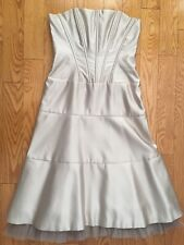 BCBG Occasion Satin Strapless Corset Dress Formal Size: 6