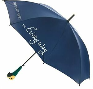 Paladone Mary Poppins Umbrella with Parrot Handle, Officially Disney Merchandise