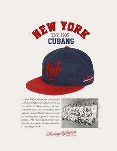 New York Cubans Negro League Baseball Hat Wool Negro League Baseball Cap