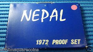 1972 Nepal Proof Set. Struck at U.S. Mint. Mintage: 3,943 Proof Sets