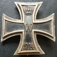 ✚8442✚ German Iron Cross First Class medal WW1 MAGNETIC CONVEX Eisernes Kreuz