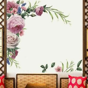 Peony Rose Flower Wall Sticker Wall Decal Nursery Home Sticker Decor Art Mural