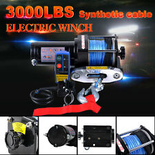 12V 3000LBS/1361KG Electric Winch Synthetic Rope Wireless Remote 4WD ATV Boat