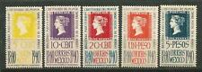 Mexico Scott #754-758 Mlh Centenary of Stamp 1940