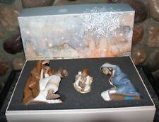 LLADRO 3 Piece Silent Night Nativity Set Porcelain Christmas Holiday Decoration