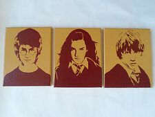 Harry Potter Gryffindor Painted Canvas Wall Hangings / Wall Art - Set of 3