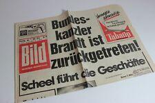 BILDzeitung 07.05.1974 Mai Umschlagsseiten / 4 Seiten Bundeskanzler Brandt