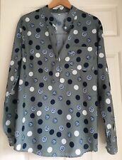 Womens Shirt 14 / 16 Loose Ladies Tops Casual Blouse Green UK
