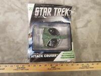 Star Trek KLINGON ATTACK CRUISER Die-Cast Metal Ship EagleMoss #20 AND MAGAZINE