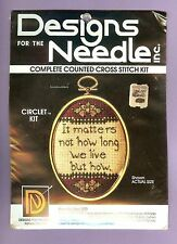 NOT HOW LONG WE LIVE BUT HOW Counted Cross Stitch Kit Designs for the Needle NEW