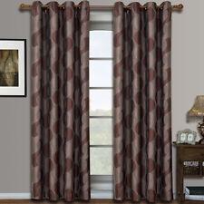 Savanna Grommet Jacquard Window Curtains Drapes, Pair / Set of 2 Panels