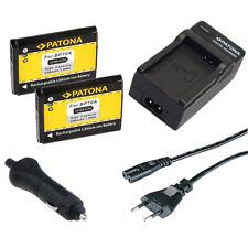 2x Batteria Patona + caricabatteria casa/auto per Samsung ST700,ST71,ST72,ST75