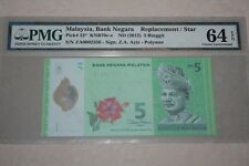 (PL) RM 5 ZA 0002356 PMG 64 EPQ ZETI 3 ZERO LOW FANCY NUMBER REPLACEMENT UNC