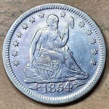 1854 Seated Liberty Quarter XF/AU