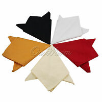 """50x Polyester Pure Cotton Table Linen Napkins Wedding Party Dinner Cloth 12"""""""