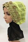 Fashion Embroidery Flower Hijab Cap Muslim Women Head Scarf Shawl Wrap Hat