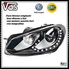 Faro proiettore anteriore bixeno led VW GOLF VI 6 ORIGINALE HELLA DESTRO DX