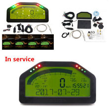 Car Dashboard LCD Screen Rally Gauge Dash Race Display Bluetooth Sensor Full Set