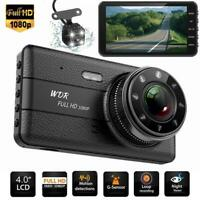 4inch Dual Lens Camera HD 1080P Car DVR Vehicle Video Dash Cam Recorder G-Sensor