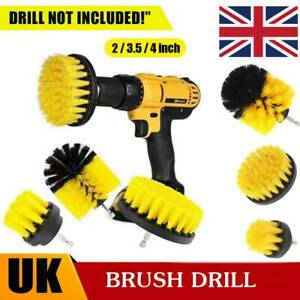3PCS Power Drill Brush Set Cleaner Bathtub Shower Tile Grout Wall Cleaning Tool