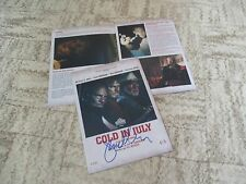 Jim Mickle handsigned COLD IN JULY Michael C. Hall/Sam Shepard/Don Johnson