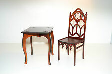 """Furniture for Dolls Chair Table 1/4 18"""" TONNER BJD wooden Gothic style HIT NEW"""