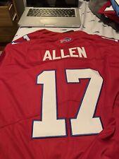 New Men's Josh Allen #17 Red Buffalo Bills Jersey Large L NFL