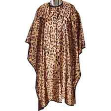 DMI Leopard Print Square Cape, Spa Clothing  Hairdressing Gown, Water Resistant