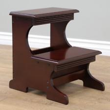 Modern Wooden Bed Steps Ladder Bedroom & Kitchen Furniture High Bed 2-Step Stool
