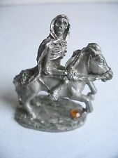 Spoontiques Skeleton on Horse Death Miniature Pewter Collectible Statue Mr1655