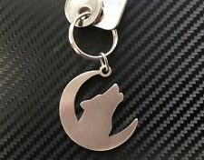 WOLF HOWLING Moon Dog Wild Werewolf Animal Keyring Keychain Key Fob Gift