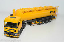 TEKNO DAF 95 TRUCK WITH TRAILER TANKER PROMOTIONAL YELLOW NEAR MINT CONDITION